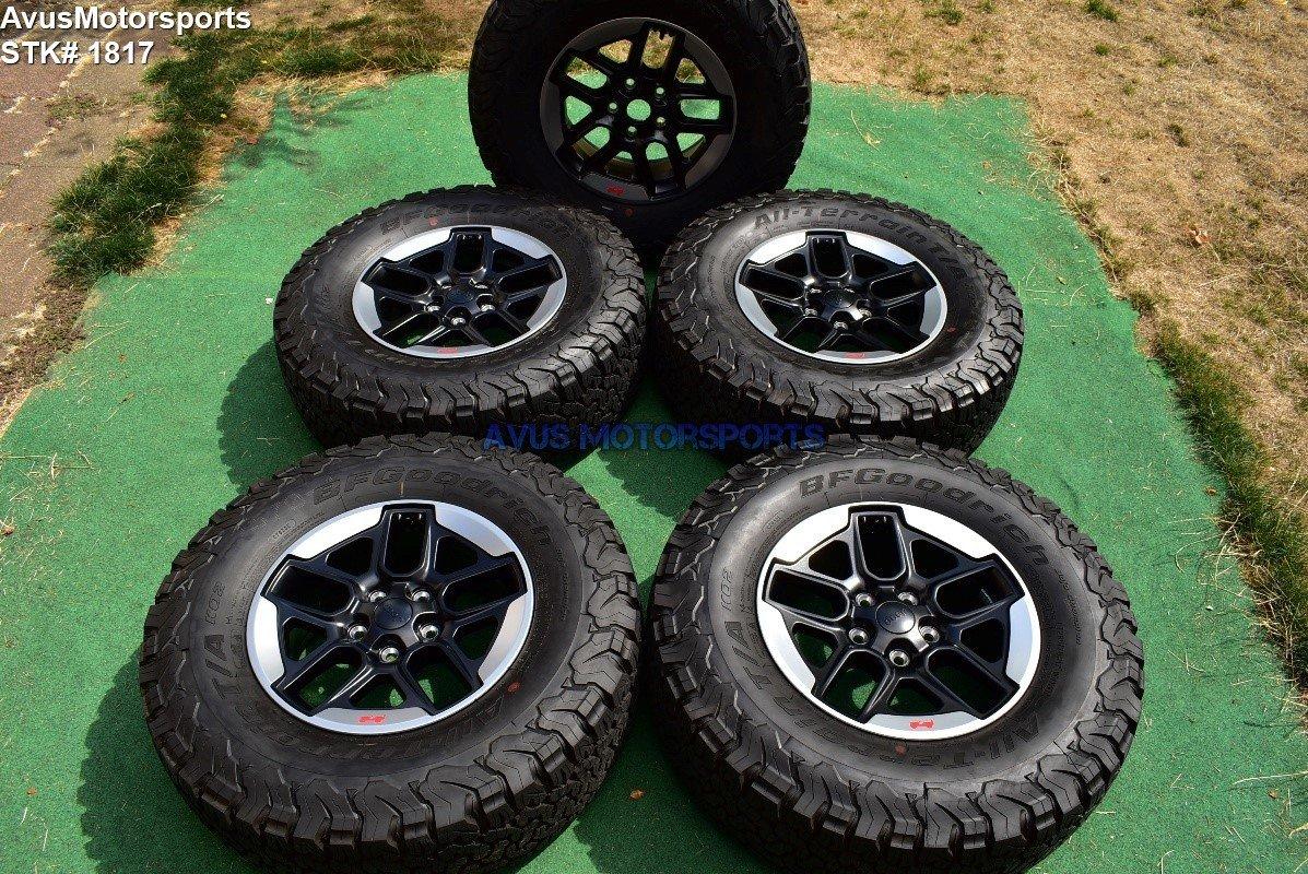 "17"" Jeep Wrangler Rubicon 2018 OEM Factory Wheels BFGoodrich KO2 Tires JL TPMS"