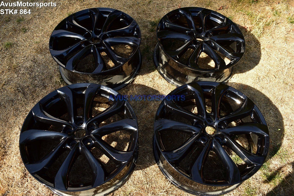 "Mazda CX-9 GT OEM 20"" Factory Wheels CX5 Mazda6 6 Powdercoated Black"