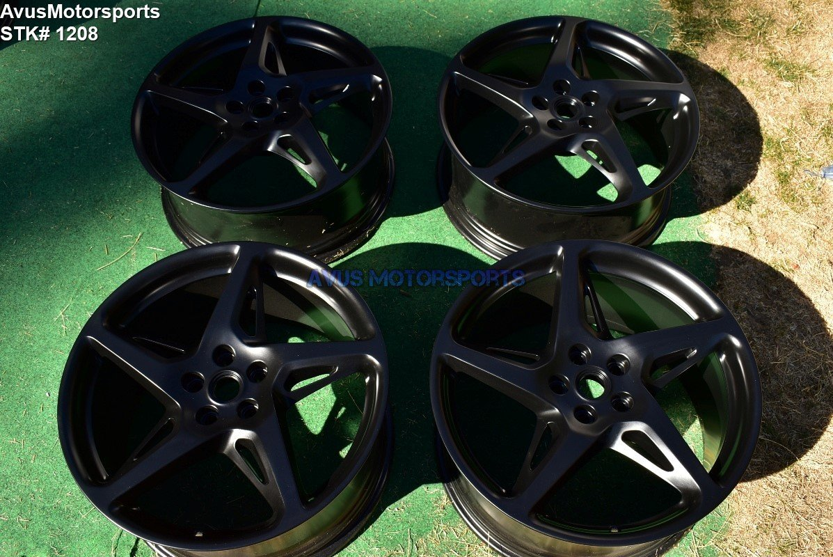 "20"" Ferrari 458 ITALIA BBS OEM Staggered Genuine Factory Wheels Satin Black"