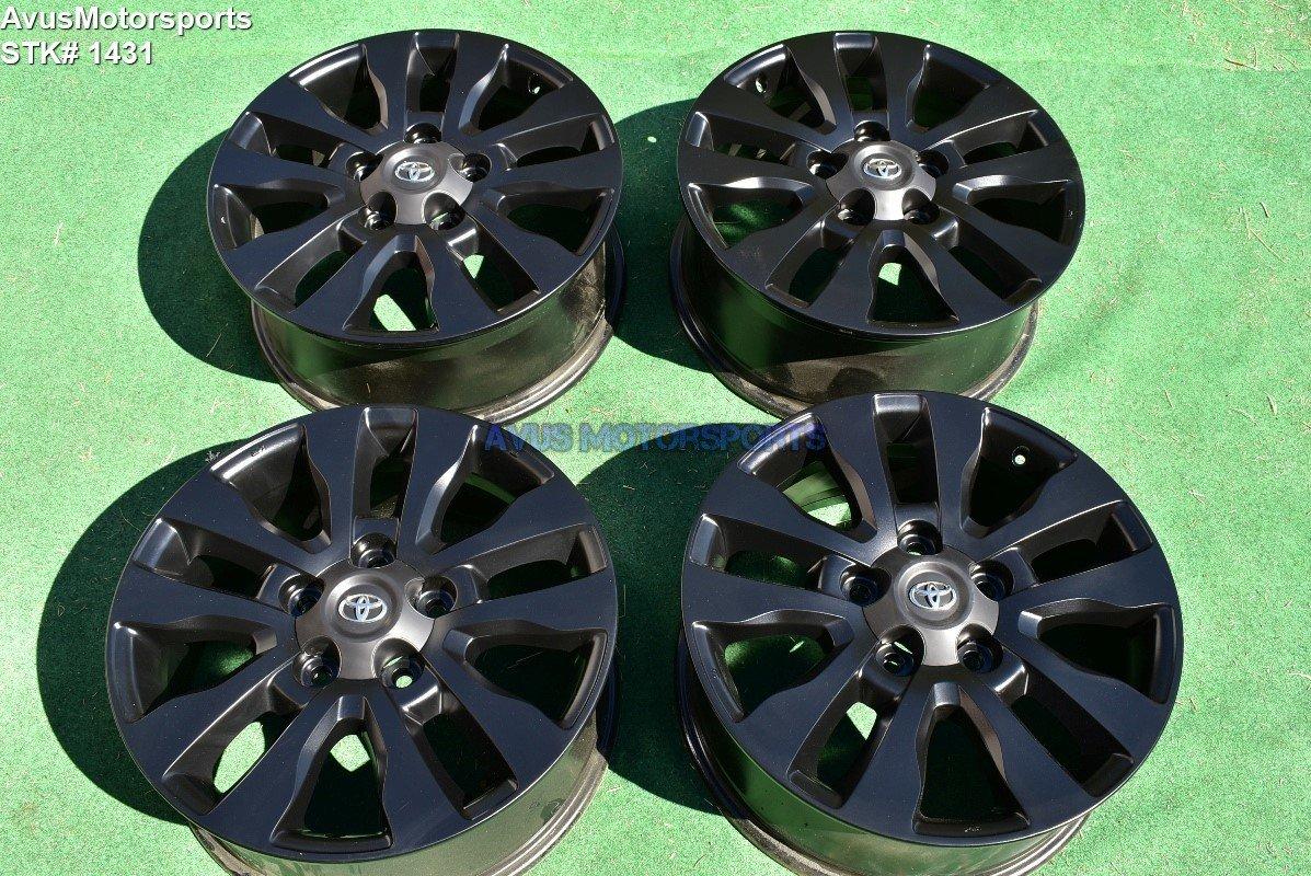 "Toyota Tundra Limited 20"" OEM Wheels Sequoia Land Cruiser Lx570 black"
