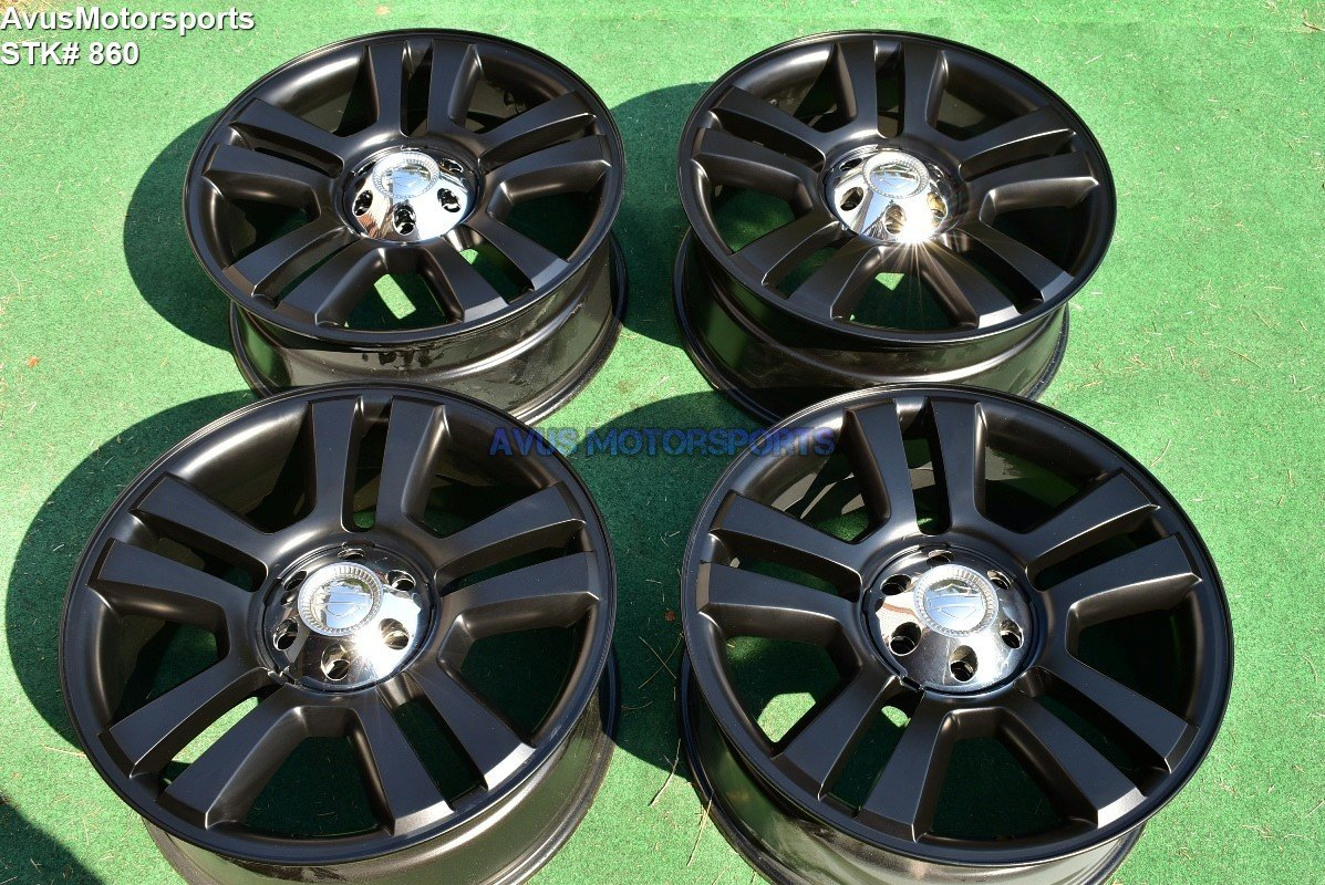 "22"" Ford F150 Harley Davidson Edition OEM Factory Wheels Expedition Satin Black"