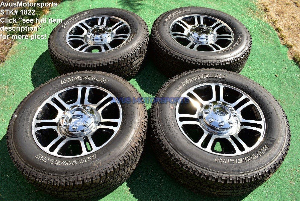 "20"" Ford F350 Super Duty Platinum OEM Factory Polished Wheels F250 2016 2015"