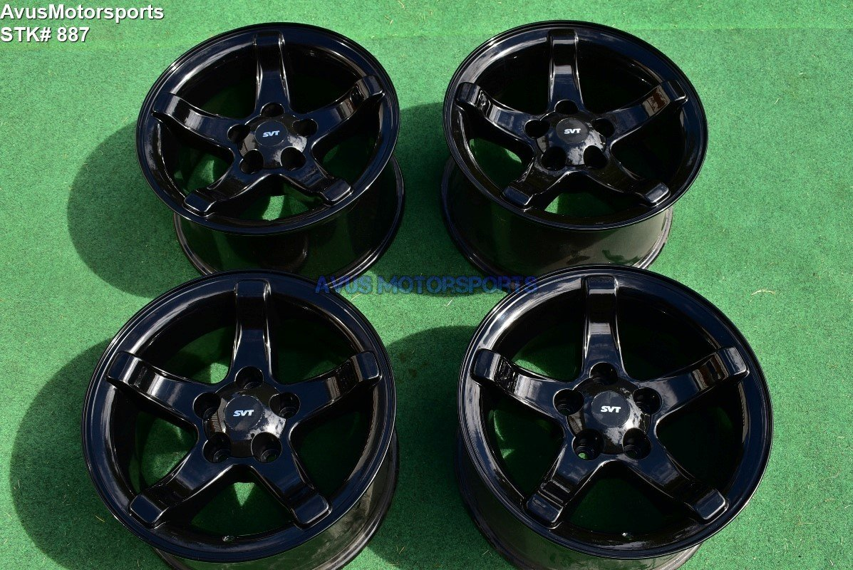 "18"" Ford F150 SVT Lightning OEM Factory Wheels Expedition Gloss Black 1999 2000"