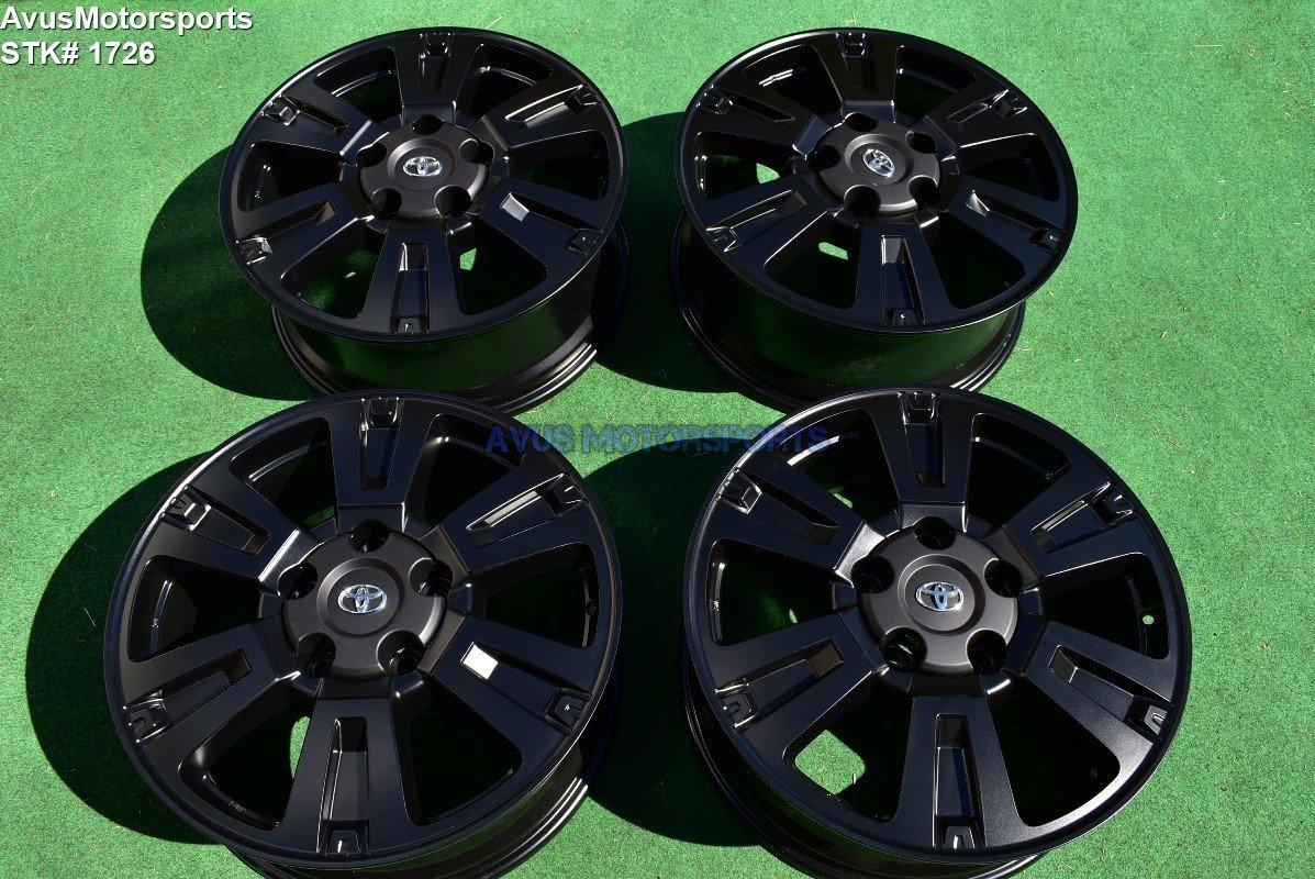 "20"" Toyota Tundra Platinum OEM Wheels Sequoia Land Cruiser Lx570 satin black"