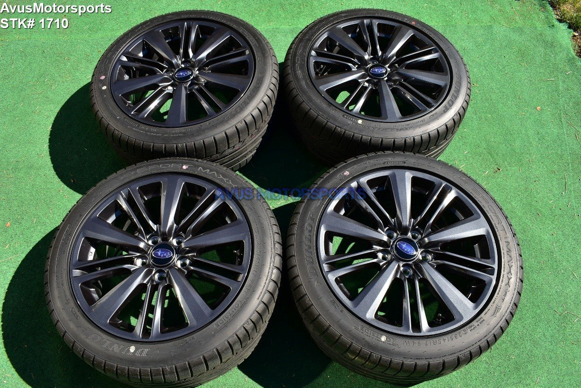 "17"" Subaru WRX OEM Factory Charcoal Gray Wheels Tires 2018 5x114 or 5x4.5 TPMS"