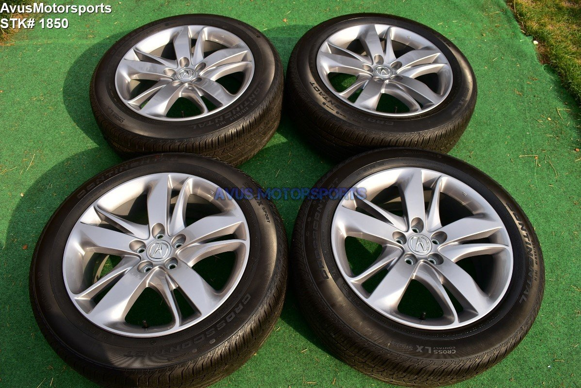 "19"" Acura RDX OEM FACTORY WHEELS Continental 235/55R19 TIRES Genuine 5x114"