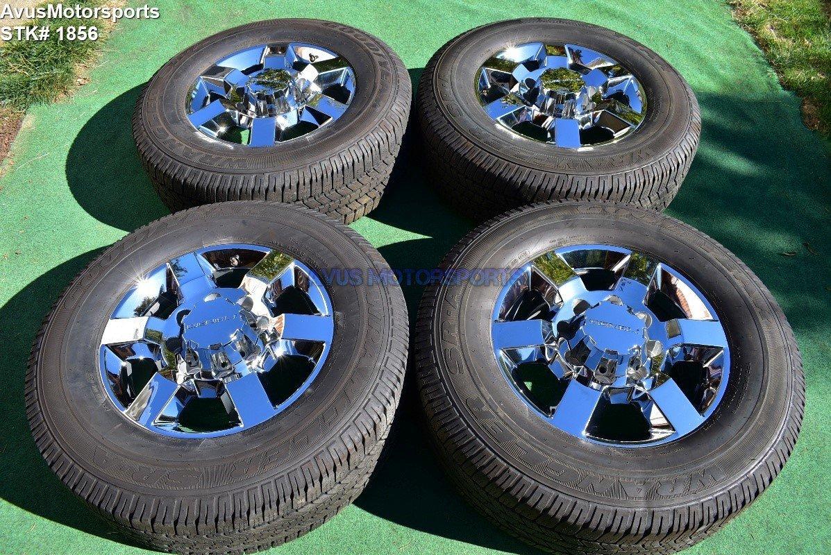 "18"" GMC Sierra Denali 2500 3500 OEM WHEELS TIRES Chevy Silverado chrome 2015"