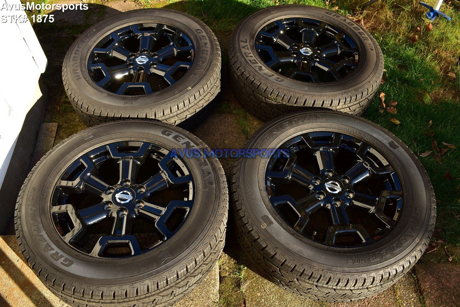 "20"" Nissan Titan XD OEM Midnight Edition Black Wheels Tires Armada 2018"