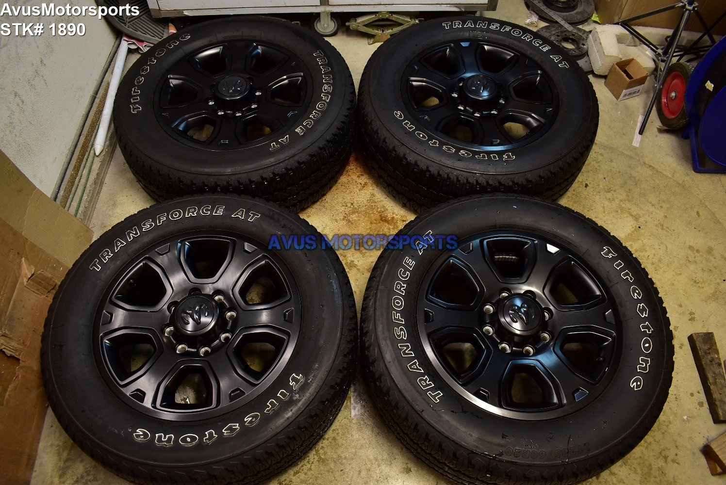 "20"" Dodge Ram Black Nigh tEdition OEM Factory Wheels Tires  2500 3500 2017 2018"