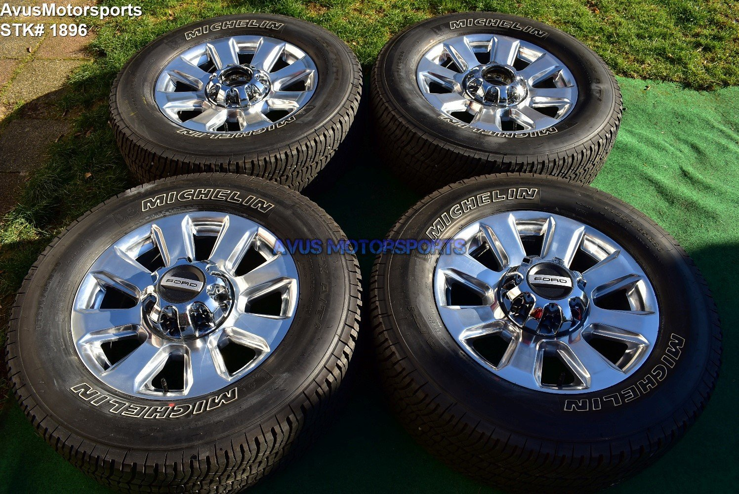 "20"" Ford F350 Super Duty Platinum OEM Factory Polished Wheels F250 2017 2018"