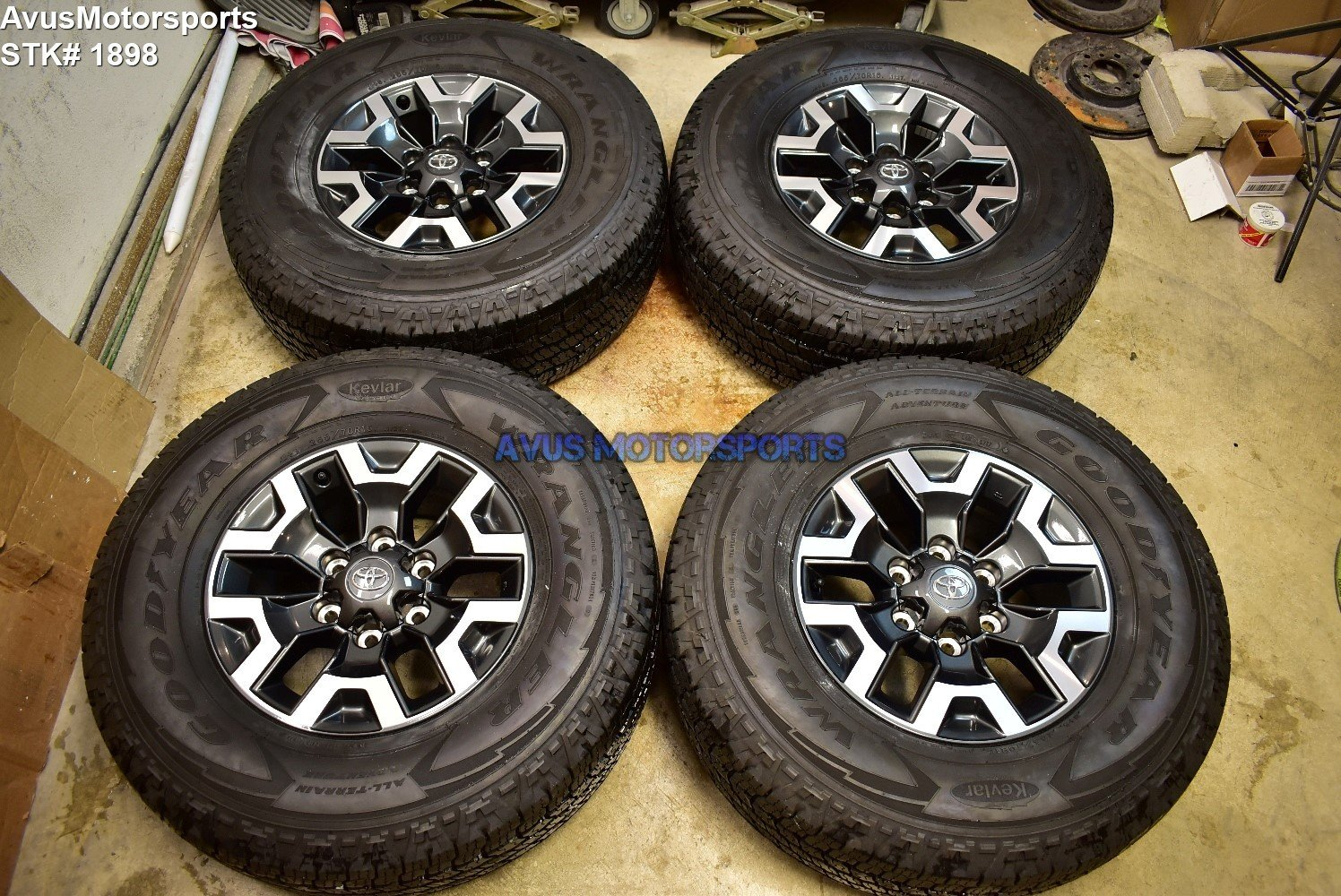 "16"" TOYOTA TACOMA OEM FACTORY TRD OFFROAD WHEELS Tires 4runner Tundra 2018"