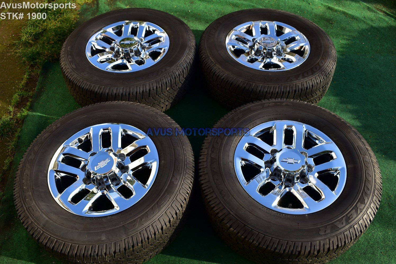 "18"" Chevy Silverado GMC Sierra 2500 3500 OEM WHEELS TIRES  chrome 2017 2016"