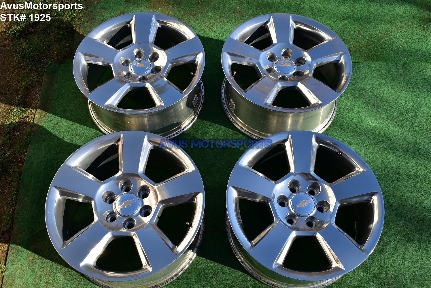 "20"" Chevrolet TAHOE OEM FACTORY WHEELS SILVERADO SUBURBAN 1500 GMC Sierra Yukon"