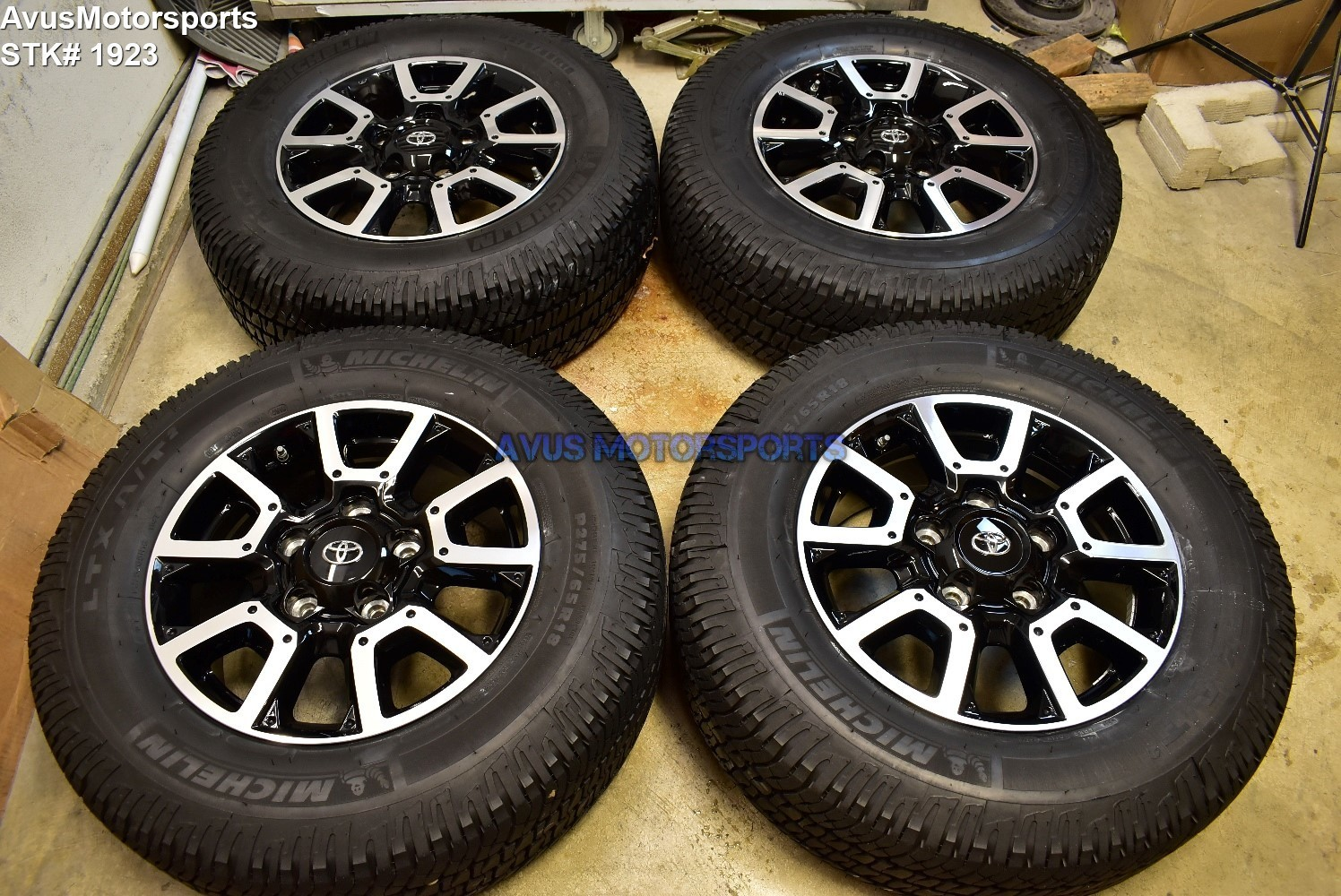 "18"" Toyota Tundra Off Road OEM Factory Wheels Tires TRD offroad Sequoia + TPMS"