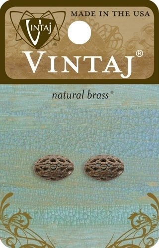 12mm Oval Filigree Bead (2 pcs/pkg)