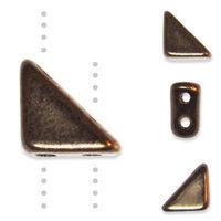 TANGO BEAD 2-HOLE 6MM DARK BRONZE - 12g Bag (approx 80)