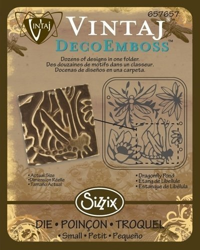 VINTAJ DECOEMBOSS DIE DRAGONFLY POND VINTAJ