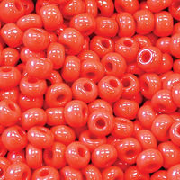 10/0 CHERRY RED OPAQUE CZECH SEED BEADS - HK: 12 STRINGS OF 20 INCH (APX 42G)