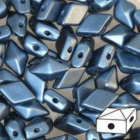 DIAMONDUO 2-HOLE BEAD 5X8MM PASTEL PETROL - 12g Bag (approx 80)