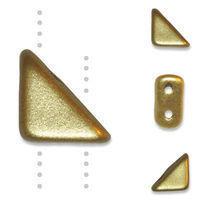 TANGO BEAD 2-HOLE 6MM MATTE GOLD - 12g Bag (approx 80)
