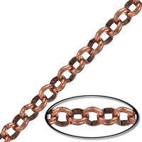 4.5MM STEEL ROLO CHAIN COPPER ANTIQUE FINISH - 10MTR(33FT) SPOOL