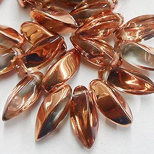 6*12mm  Crystal/Copper Twisted Dagger (25 pcs)