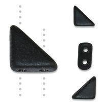 TANGO BEAD 2-HOLE 6MM JET MATTE - 12g Bag (approx 80)