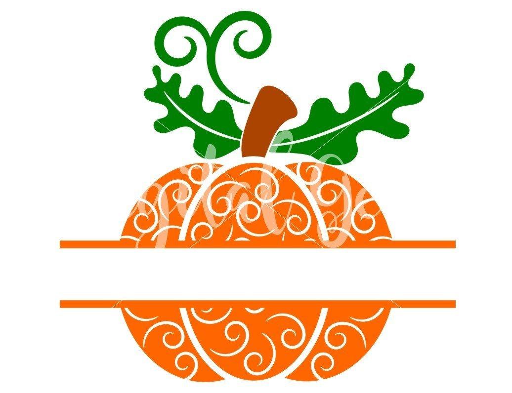 Split Pumpkin Svg Dxf Eps Png Files