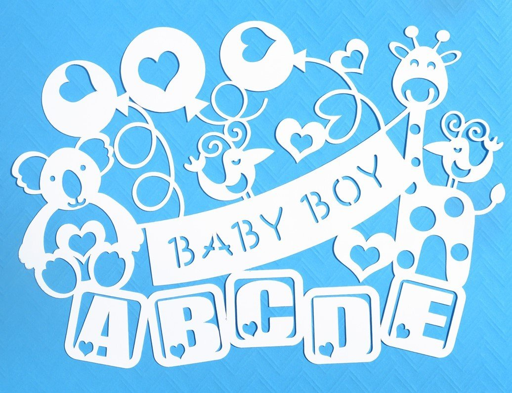 Svg Eps Dxf Png Pdf: Baby Boy Paper Cut SVG / DXF / EPS Files And PDF / PNG