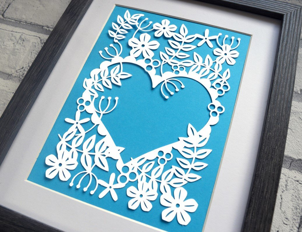 Heart Of Flowers Paper Cut Svg Dxf Eps Files And Pdf Png
