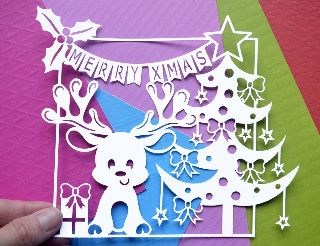 Svg Eps Dxf Png Pdf: Christmas Reindeer Paper Cut SVG / DXF / EPS Files And PDF