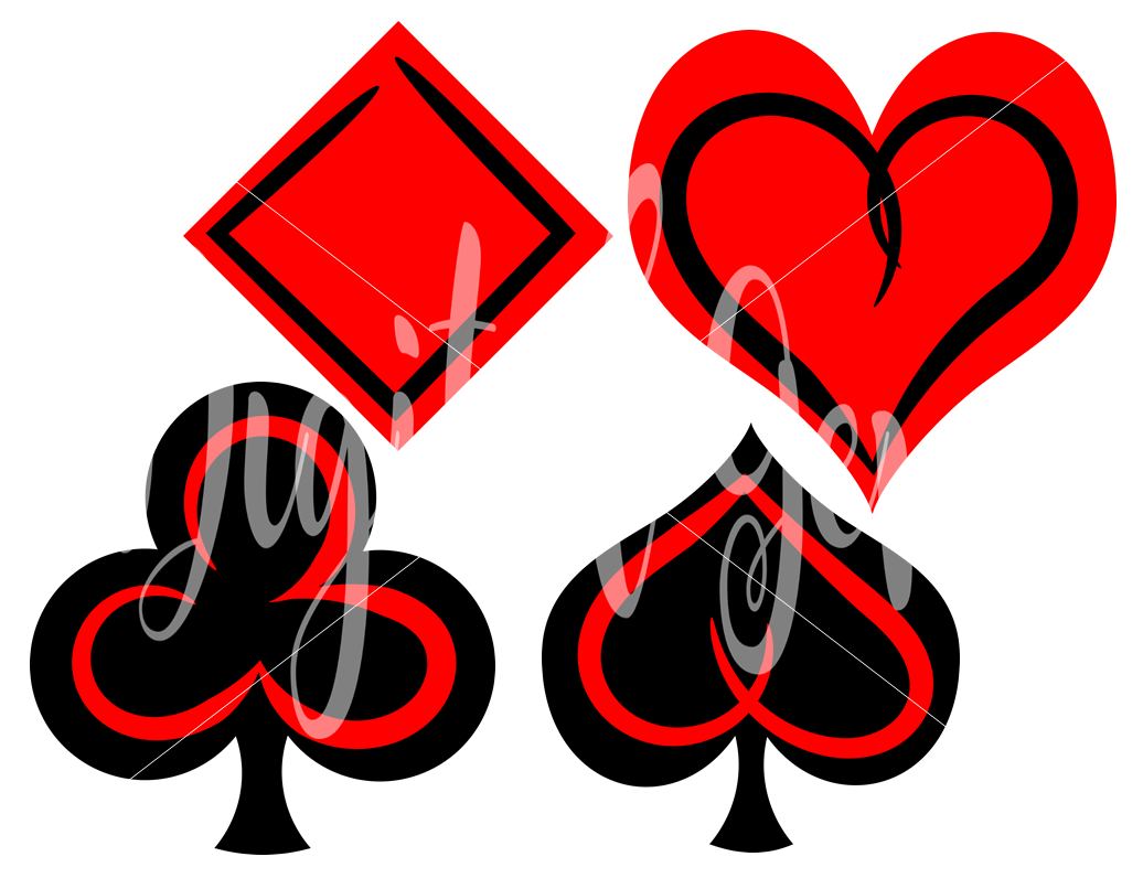 Playing card symbols svg dxf eps png files biocorpaavc