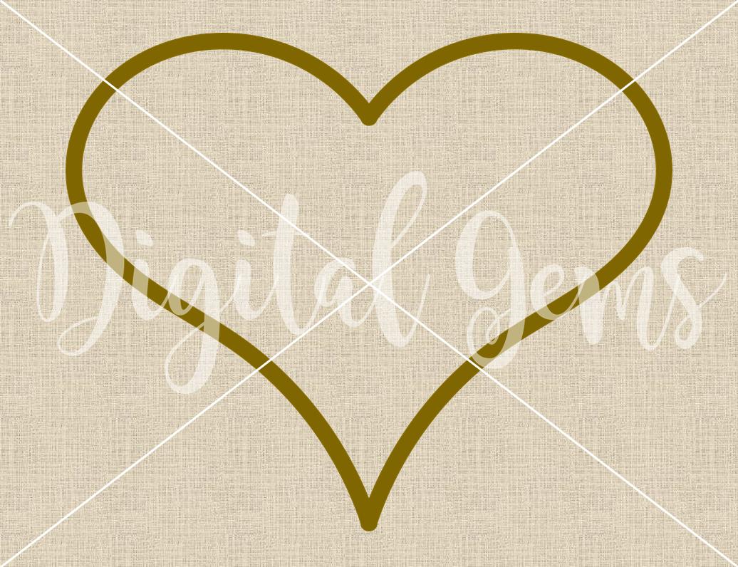 Heart frame SVG / DXF / EPS / PNG Files