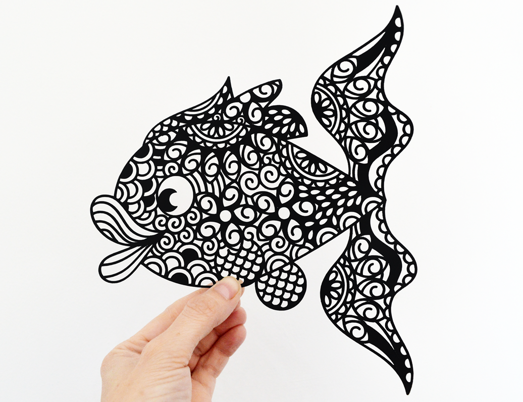 Fish paper cut svg dxf eps files and pdf png printable fish paper cut svg dxf eps files and pdf png printable templates for hand cutting maxwellsz