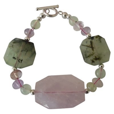 Rose Quartz, Prehnite & Bracelet