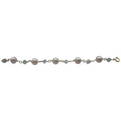 Sky Blue Topaz Pearl Bracelet