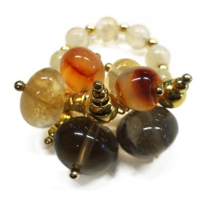 Citrine Bobble Ring