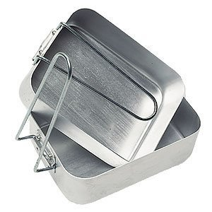 Mess Tins Aluminium British Army Set of 2