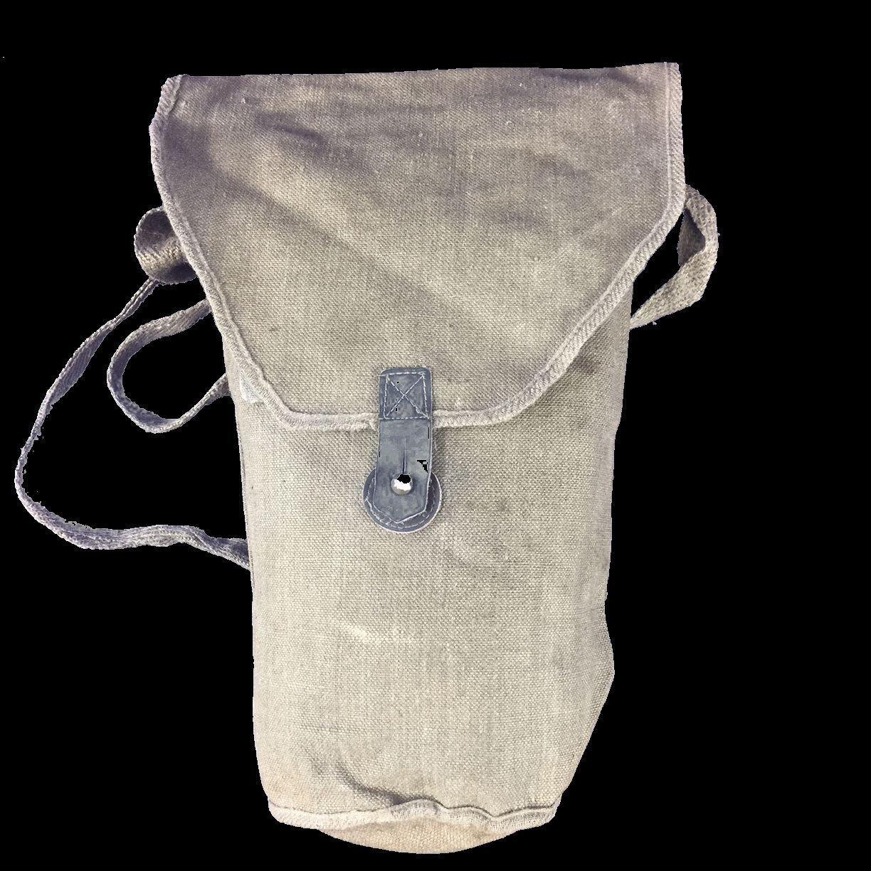 Italian Army Ww2 Ww11 Vintage Genuine T 35 Canvas Gas Mask Bag