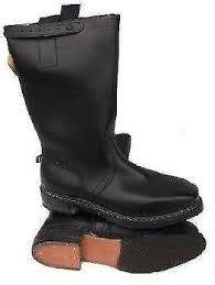 08959d0688190 German Army Genuine Vintage Black Leather Motorcycle Jack Riding Boots