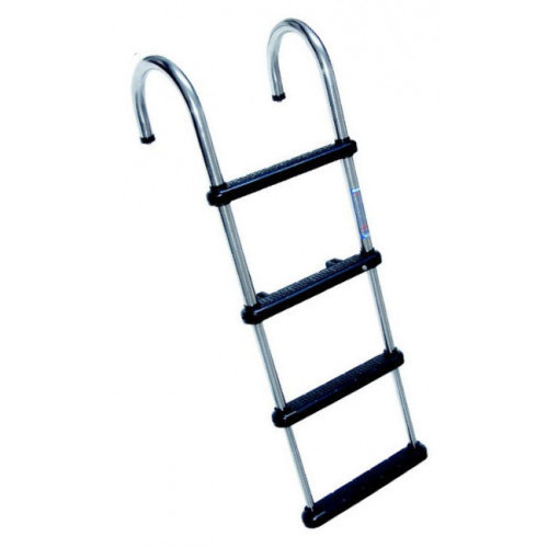 LADDER, 4-STEP, TELESCOPING, SS, PONTOON