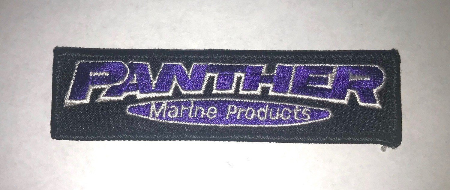 "Panther Embroidered Patch - 1"" x 4"""