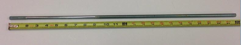 "3/8""- 24 X 24"" Rod - Zinc Plated"