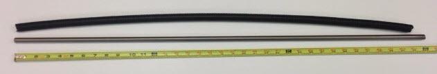 """36"""" Tie Bar, 1/2"""" Diameter, fine threads, 20 threads per inch"""