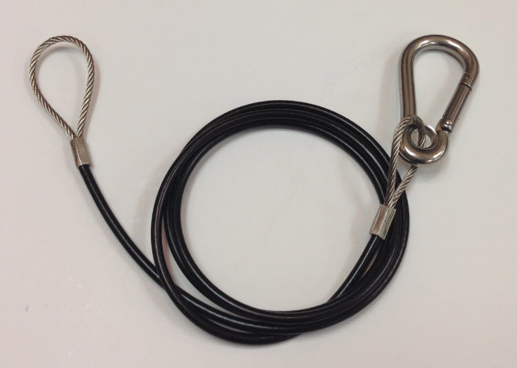 Outboard Safety Cable - Stainless Steel