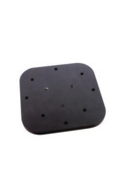 Humminbird/Lowrance Anodized Aluminum Mounting Plate, 4 1/2