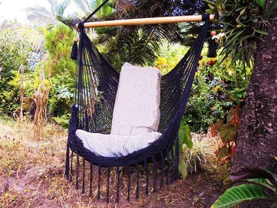 Hammock Swing/Hammock Chair / Chair Swing /Hanging Chair /Bohemian Decor /  Black