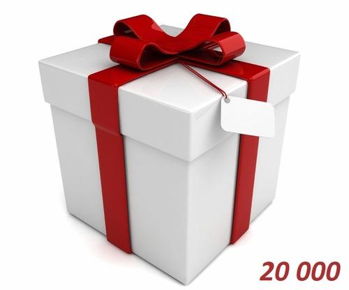 Подарочный сертификат 20000 тенге от е-магазина Phonez.kz