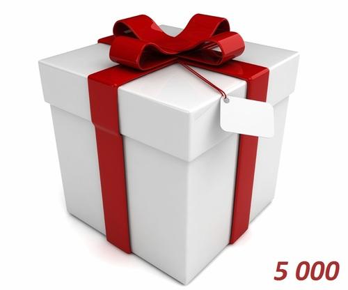 Подарочный сертификат 5000 тенге от е-магазина Phonez.kz