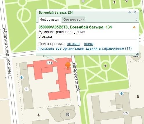 База масок (шаблонов) поиска по новым и старым почтовым индексам Казахстана